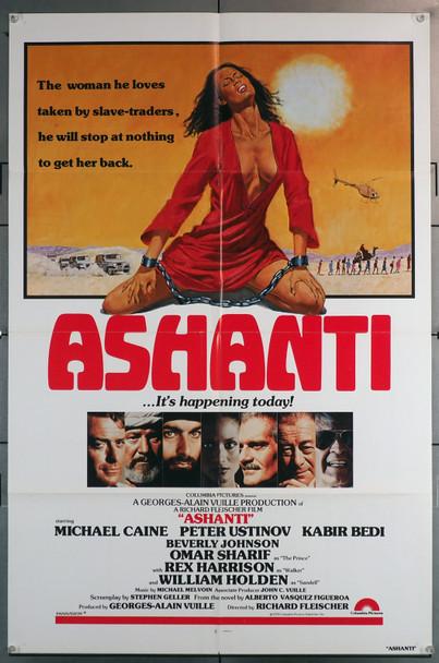 ASHANTI (1979) 29546  Movie Poster (27x41)  Michael Caine  Peter Ustinov  Omar Sharif  Kabir Bedi  Beverly Johnson Original U.S. One-Sheet Poster (27x41)  Folded  Very Fine Condition