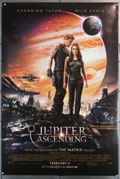 JUPITER ASCENDING (2015) 29642  Movie Poster   27x40   Channing Tatum   Mila Kunis  Lana and Lilly Wachowski Original U.S. One-Sheet Poster (27x40) Double Sided  Theater-Used  Fine