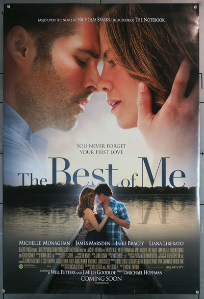 BEST OF ME, THE (2014) 29638 Movie Poster  27x40  Rolled  Michelle Monaghan  James Marsden  Luke Bracey  Liana Liberato Original U.S. Advance One-Sheet Poster  (27x40)  Rolled and Double-Sided
