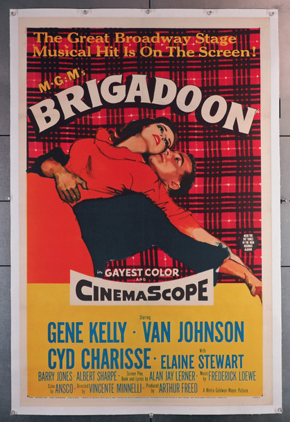 BRIGADOON (1954) 8608  Movie Poster (27x41)  Gene Kelly  Cyd Charisse  Classic MGM Musical  Vincente Minnelli  Linen-Backed Original U.S. One-Sheet Poster (27x41)  Linen-Backed  Fine Plus Condition