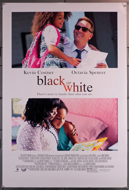 BLACK OR WHITE (2014) 29639  Movie Poster (27x40)  Kevin Costner  Octavia Spencer Original U.S. One-Sheet Poster (27x40)  Rolled  Fine Plus Condition
