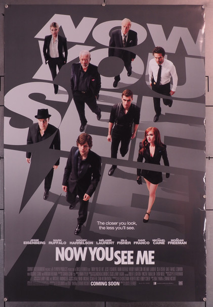 NOW YOU SEE ME (2013) 29653  Movie Poster   Jesse Eisenberg  Mark Ruffalo  Morgan Freeman et al Original U.S. One-Sheet Poster (27x40) Rolled  Very Good Condition