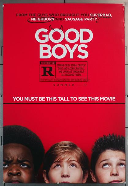 GOOD BOYS (2019) 29640  Movie Poster  (27x40)  Jacob Tremblay  Keith L. Williams  Brady Noon Original U.S. One-Sheet Poster (27x40)  Rolled  Fine Plus