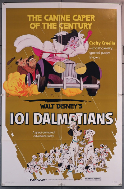 ONE HUNDRED AND ONE DALMATIANS (1961) 29645 Original Walt Disney Company One-Sheet Poster (27x41) Re-release of 1979