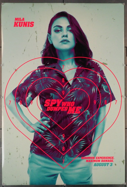 SPY WHO DUMPED ME, THE (2018) 28957  Mila Kunis Movie Poster Lionsgate Original U.S. One-Sheet Poster (27x40) Double-Sided  Rolled