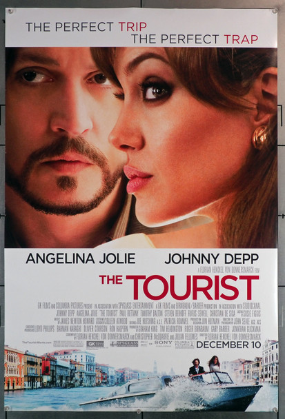 TOURIST, THE (2010) 29654  Movie Poster  Never Folded  Angelina Jolie   Johnny Depp Original U.S. One-Sheet Poster (27x40)  Rolled  Fine Plus Condition