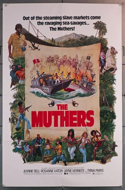 MUTHERS, THE (1976) 23102  Jeannie Bell  Rosanne Katon  Jayne Kennedy  Trina Parks  Cirio Santiago Original U.S. One-Sheet Poster (27x41) Folded  Fine Plus Condition