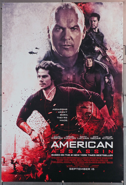 AMERICAN ASSASSIN (2017) 29674  Movie Poster  27x40  Double-Sided  Dylan O'Brien  Michael Keaton Original U.S. One-Sheet (27x40)  Rolled  Double-Sided