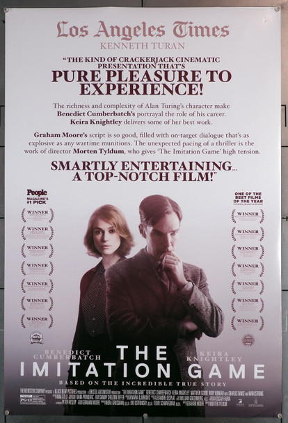 IMITATION GAME, THE (2014) 29679  Movie Poster  (27x40)  Double Sided  Benedict Cumberbatch  Keira Knightley Original U.S. One-Sheet Poster (27x40)  Double Sided  Rolled  Fine Plus Condition