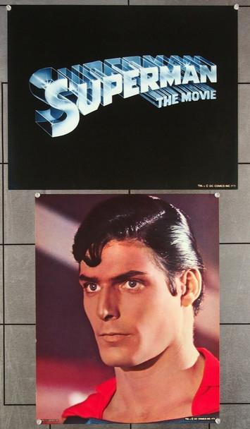 SUPERMAN     (1978) 11847  Color photolithographs  (4)  17x21  Christopher Reeve as Superman 17x21 Color Lithographs Printed for SUPERMAN (1978)  Very Fine Plus
