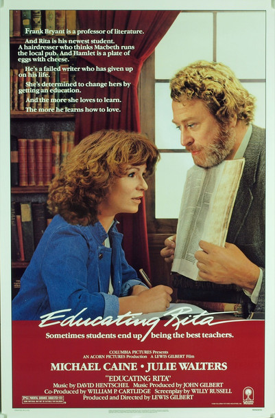 EDUCATING RITA (1983) 265 Original Columbia Pictures One Sheet Poster (27x41). Rolled. Very Fine Plus Condition.