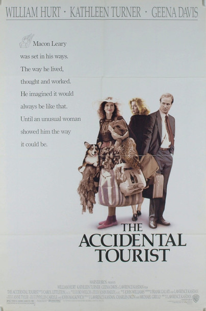 ACCIDENTAL TOURIST, THE (1988) 499 Original Warner Brothers One Sheet Poster (27x41).  Folded.  Very Good Condition.