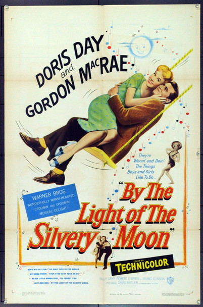 BY THE LIGHT OF THE SILVERY MOON (1953) 742 BY THE LIGHT OF THE SILVERY MOON Original Warner Brothers One Sheet Poster (27x41). Folded. Very Fine.