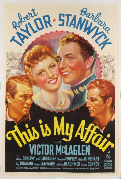 THIS IS MY AFFAIR (1937) 767 Original 20th Century-Fox One Sheet Poster (27x41). Stone Lithograph. Linen-Backed. Near Mint.