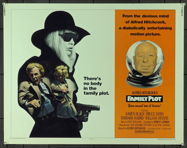 FAMILY PLOT, THE (1976) 878 Original Universal Pictures Half Sheet Poster (22x28). Unfolded. Directed by Alfred Hitchcock. Very Fine Condition.