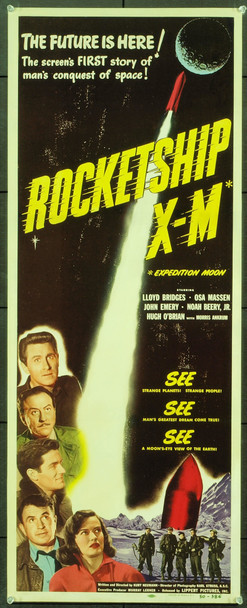 ROCKETSHIP X-M (1950) 999 Original Lippert Films Insert Poster (14x36). Paper-Backed. Fine Plus condition.