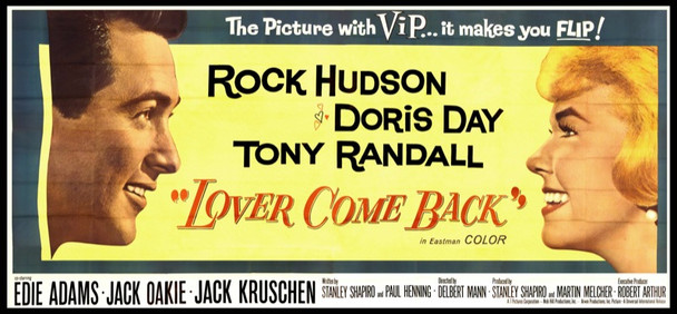 LOVER COME BACK (1961) 1075 Original Universal Pictures Twenty Four Sheet Poster (9ftx20ft). Very fine condition.