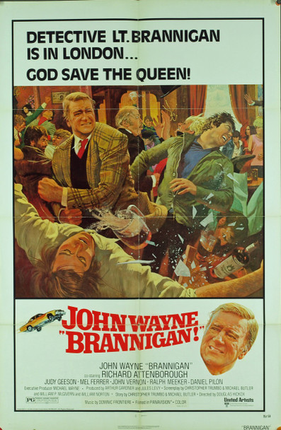 BRANNIGAN! (1975) 1098 Original United Artists One Sheet Poster (27x41).  Folded. Very Fine Condition.
