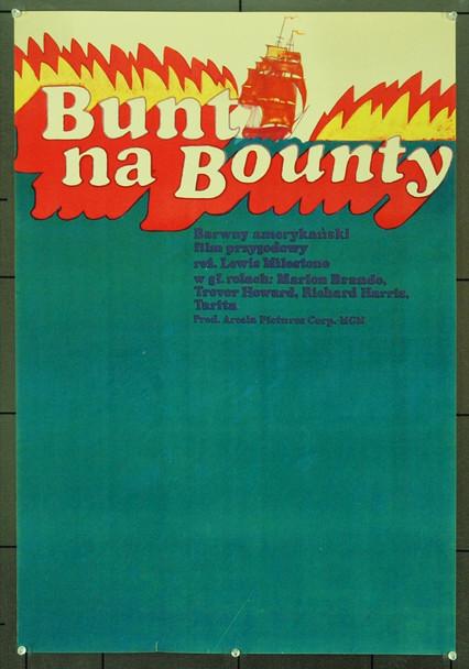 MUTINY ON THE BOUNTY (1962) 1130 Original Polish Poster (23x33). Very Fine Plus.