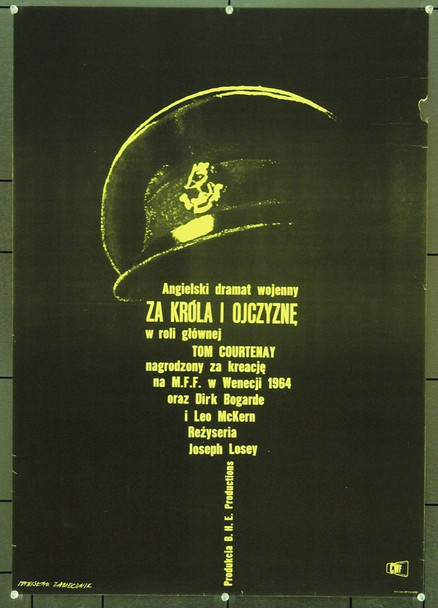 KING & COUNTRY (1964) 1133 Original Polish Poster (27x41). Art by Stanislaw Zamecznik. Very Good Condition.
