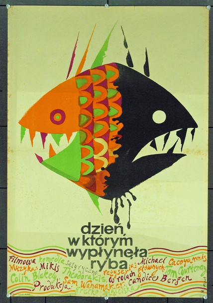 DAY THE FISH CAME OUT, THE (1967) 1143 Original Polish Poster (26x38). Art by Jerzy Flisak. Very Good.
