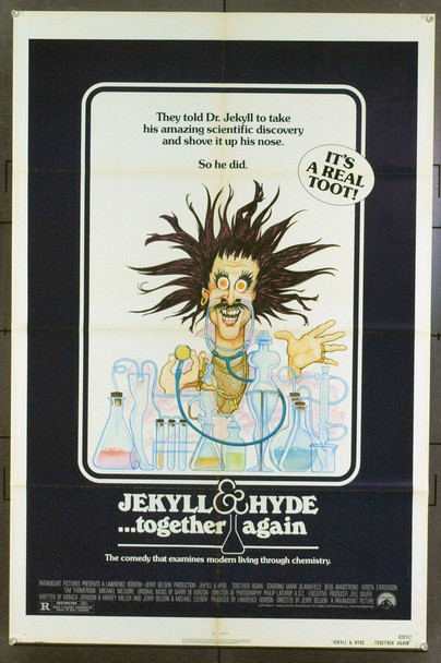 JEKYLL AND HYDE...TOGETHER AGAIN (1982) 1355 Original Paramount Pictures One Sheet Poster (27x41). Folded. Very Fine.