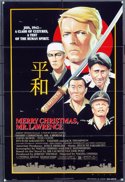 MERRY CHRISTMAS, MR. LAWRENCE (1983) 1411 Original Universal Pictures One Sheet Poster (27x41).  Folded.  Fine plus condition.