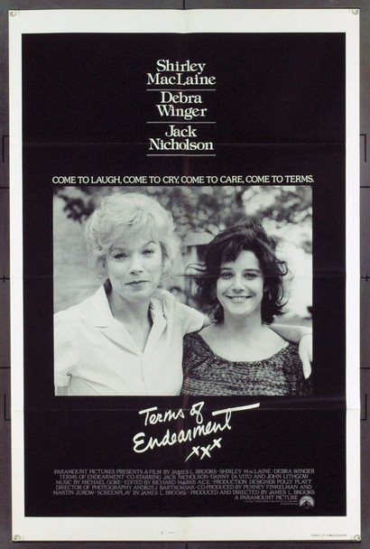 TERMS OF ENDEARMENT (1983) 1571 Original Paramount Pictures One Sheet Poster (27x41). Folded. Very Fine.