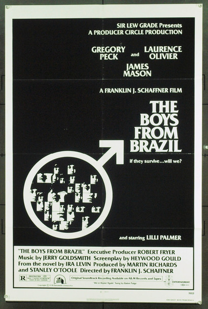 BOYS FROM BRAZIL, THE (1978) 1855 Original 20th Century-Fox One Sheet Poster (27x41). Folded. Fine Plus.