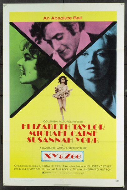 ZEE AND CO. (1971) 1860 Columbia Pictures One Sheet Poster (27x41). Folded. Very Fine Plus.