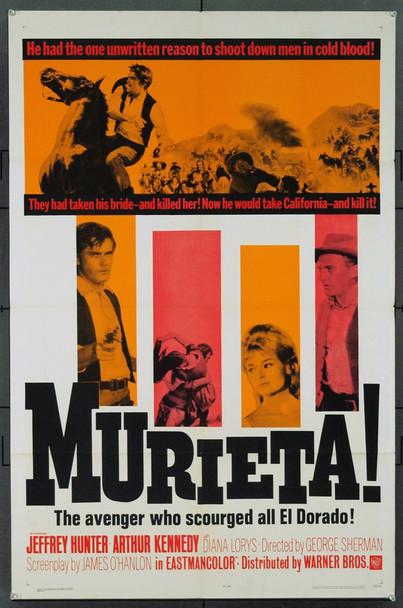 JOAQUIN MURRIETA (1965) 1890 Original Warner Brothers One Sheet Poster (27x41). Folded. Very Fine Plus.