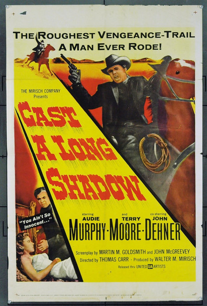 CAST A LONG SHADOW (1958) 1891 Original United Artists One Sheet Poster (27x41). Good Condition .