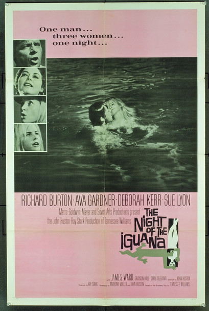 NIGHT OF THE IGUANA, THE (1964) 2016 Original MGM One Sheet Poster (27x41). Folded. Fine Plus Condition.