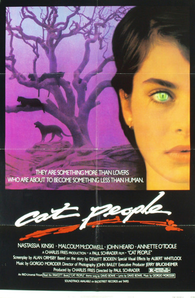 CAT PEOPLE (1982) 2212 Original Universal Pictures One Sheet Poster (27x41). Style B. Folded. Very fine condition.