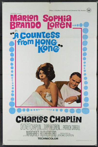 COUNTESS FROM HONG KONG, A (1967) 2289 Original Universal Pictures One Sheet Poster (27x41).  Very Fine Condition.