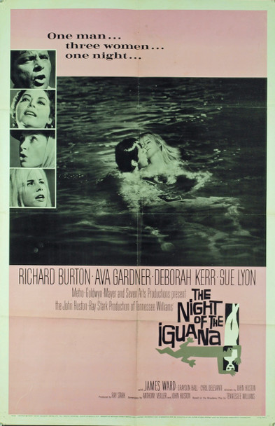 NIGHT OF THE IGUANA, THE (1964) 2369 Original MGM One Sheet Poster (27x41). Folded. Very good condition.
