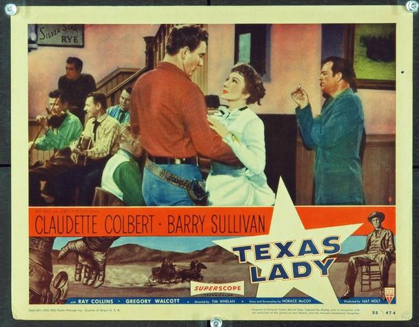 TEXAS LADY (1955) 2459 Original RKO Scene Lobby Card (11x14). Fine Plus Condition.