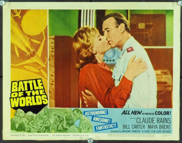 BATTLE OF THE WORLDS (1961) 2461 Original Topaz Films Scene Lobby Card (11x14). Good condition.