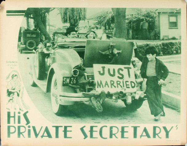 HIS PRIVATE SECRETARY (1933) 2495 Original Showmen's Pictures Scene Lobby Card (11x14).  Very good condition.