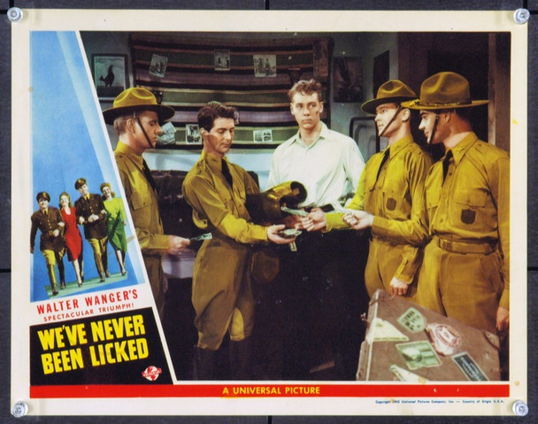 WE'VE NEVER BEEN LICKED (1943) 2499 Original Universal Pictures Scene Lobby Card (11x14). Fine Plus.