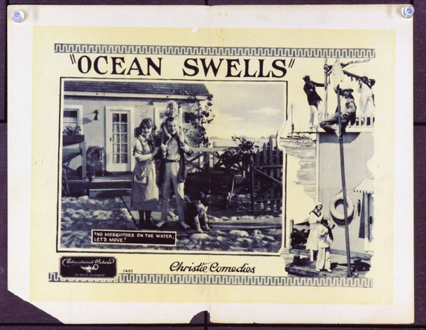 OCEAN SWELLS (1922) 2526 Original Educational Pictures Scene Lobby Card (11x14). Good.