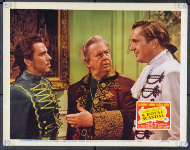 ROYAL SCANDAL, A (1945) 2529 Original 20th Century-Fox Scene Lobby Card (11x14). Fine Plus To Very Fine.