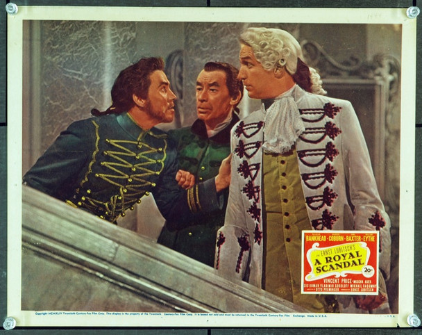 ROYAL SCANDAL, A (1945) 2555 Original 20th Century-Fox Scene Lobby Card (11x14). Fine Plus Condition.