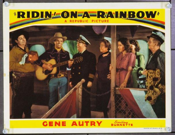 RIDIN' ON A RAINBOW (1941) 2618 Original Republic Pictures Scene Lobby Card (11x14). Very Fine Plus.