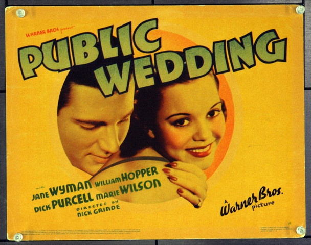 PUBLIC WEDDING (1937) 2619 Original Warner Brothers Title Lobby Card (11x14). Fine Plus.