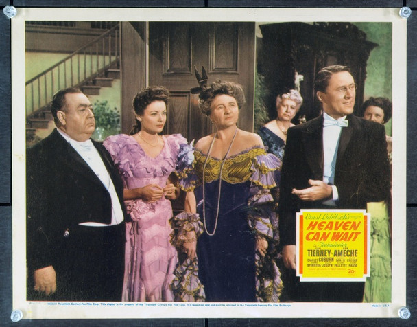 HEAVEN CAN WAIT (1943) 2653 Original 20th Century-Fox Scene Lobby Card (11x14).   Very Fine Condition.