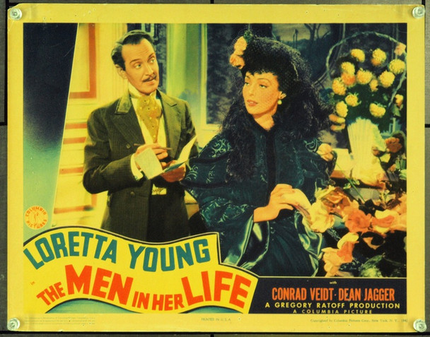 MEN IN HER LIFE, THE (1941) 2656 Original Columbia Pictures Scene Lobby Card (11x14). Fine Condition.