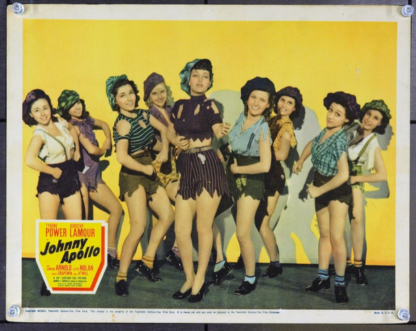 JOHNNY APOLLO (1940) 2660 Original 20th Century-Fox Scene Lobby Card (11x14). Fine Plus.