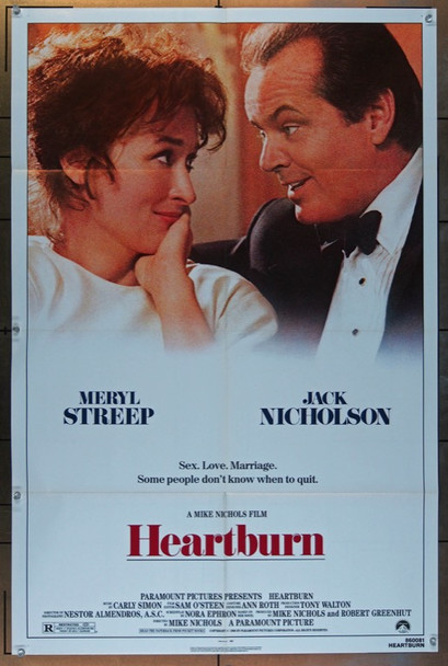 HEARTBURN (1986) 2669 Original Paramount Pictures One Sheet Poster (27x41). Folded. Fine condition.