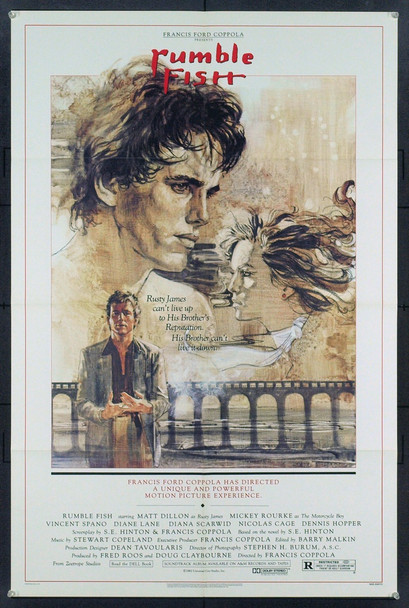 RUMBLE FISH (1983) 3027 Original Universal Pictures One Sheet Poster (27x41). Folded. Very Fine Plus.